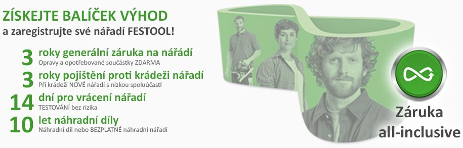 Záruka Festool all-inclusive